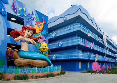 Edificios Sirenita disney Art of Animation Resort