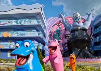 Edificios la sirenita disney Art of Animation Resort