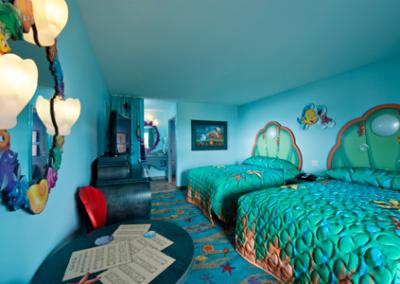 habitación sirenita disney Art of Animation Resort