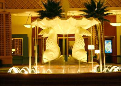 Lobby del Dolphin Resort Peces