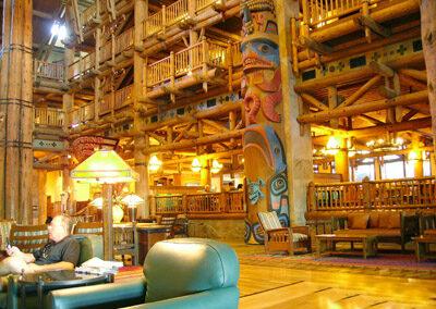 Lobby del Disney Wilderness Lodge