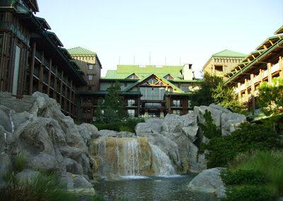 Cascadas en el Disney Wilderness Lodge Resort
