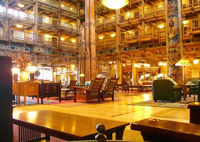 Lobby del Disney Wilderness Lodge Resort