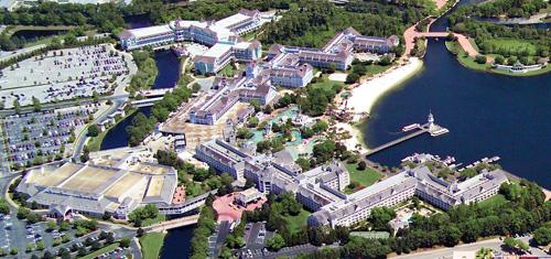 Imagen Aérea del Disney Yacht Club Resort