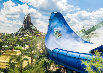 Hong and Ika Moana en Universal Volcano Bay