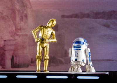 C3PO y R2D2 en Disney Studios Paris