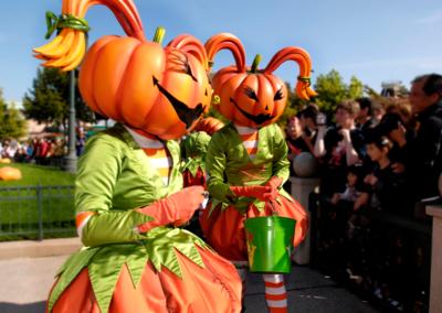 Calabazas en Halloween Disneyland Paris