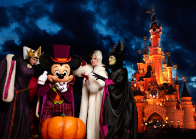 Villanos Disney en Halloween Disneyland Paris