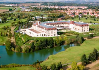 Vista aerea Radisson Blu hotel Disneyland