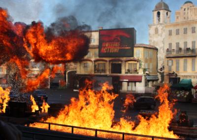 Fuego en Motor Stunt Show en Disney Studios Paris