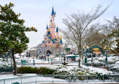 Disneyland Paris nevado
