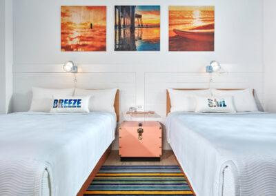 Habitación dos camas del hotel Endless Summer Resort Docksideen Universal Orlando