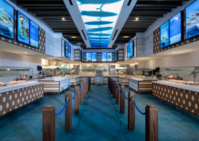 Restaurante self service Beach Break Cafe del hotel Endless Summer Resort Sufside en Universal Orlando