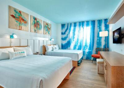 Habitación dos camas del hotel Endless Summer Resort Sufside en Universal Orlando