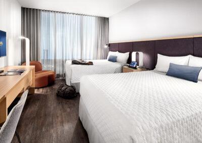 Aventura Hotel Universal Orlando Resort habitación dos camas