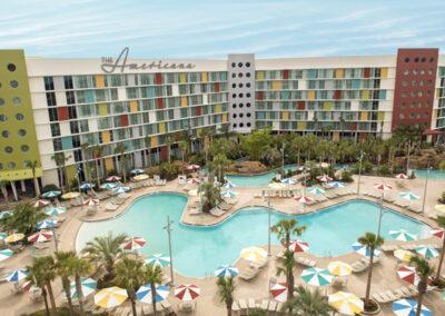 Cabana Bay Resort Universal Orlando Vista aérea piscina