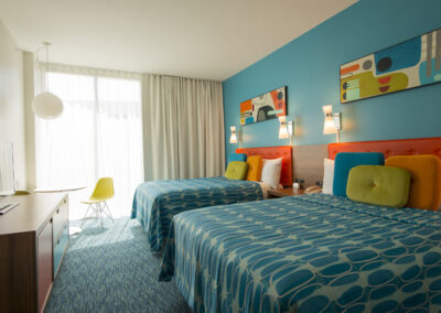 Cabana Bay Resort Universal Orlando habitación dos camas