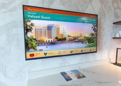Pantalla interactiva habitación Coronado Springs Tower Resort
