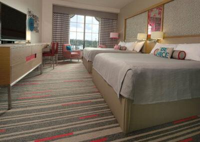 Hard Rock Hotel Universal Orlando habitación estándar con dos camas