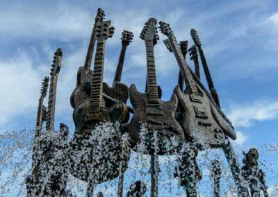 Hard Rock Hotel Universal Orlando fuente de las guitarras