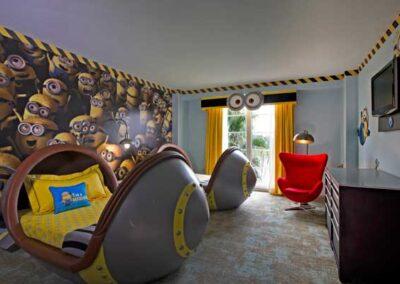 Loews Portofino Bay Hotel Universal Orlando habitación Minnions