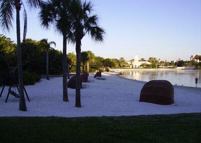 Zona de playa del Hotel Disney's Polynesian Resort