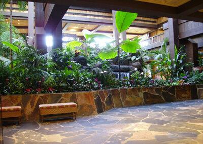 Area de espera y entrada del Disney's Polinesian Resort