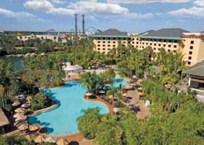 Royal Pacific Resort Universal Orlando vista aérea de piscinas