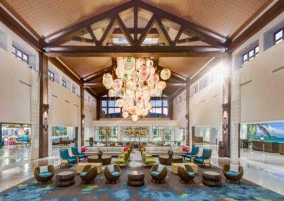 Sapphire Falls Resort Universal Orlando lobby