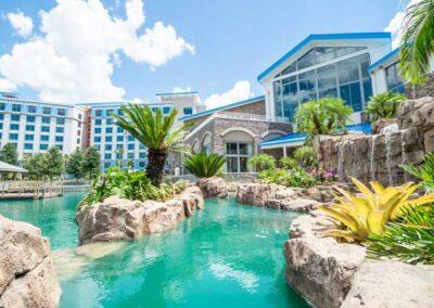 Sapphire Falls Resort Universal Orlando piscinas y cascadas