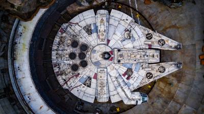 Star wars Galaxy Edge Walt Disney World Millenium Falcon Aerial