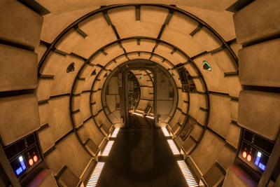 Star wars Galaxy Edge Walt Disney World Millenium Falcon Tunnel