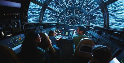 Star wars Galaxy Edge Walt Disney World Millenium Falcon Ride