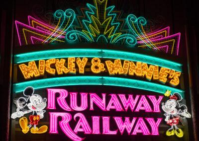 Mickey & Minnie Runaway Railway Entrance Lights