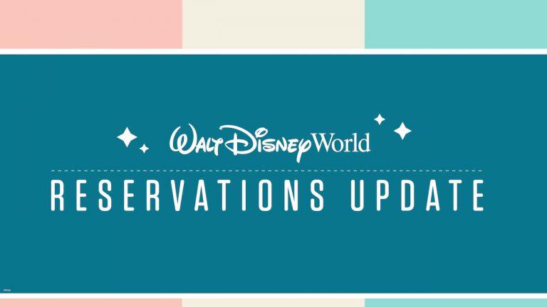 Walt Disney World Reservations update