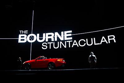 the bourne stuntacular logo universal studios orlando