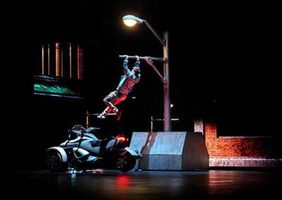 the bourne stuntacular man in motorbike universal orlando