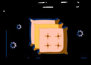 doble funda de almohadas