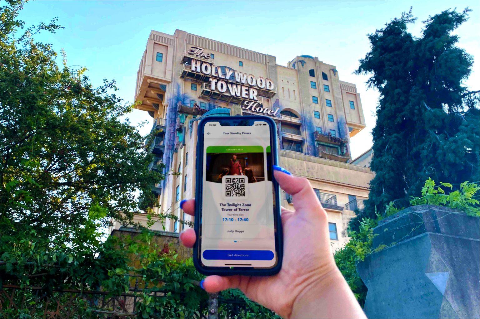 Standbay pass app para Disneyland París