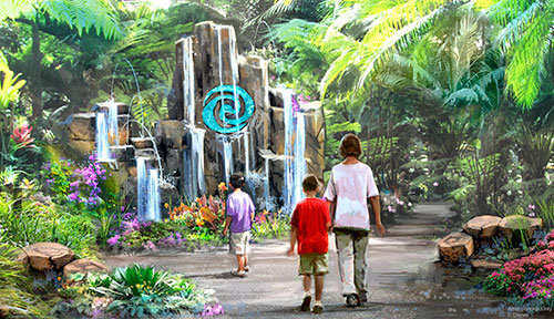 Journey of Water pabellón de epcot en Disneyworld