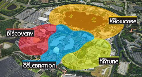 Nuevas áreas temáticas de Epcot en Disneyworld