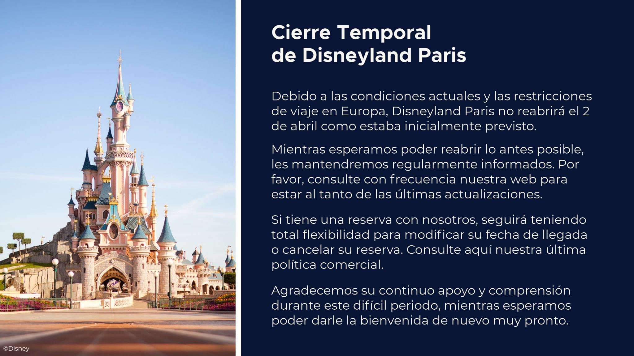 cierre temporal disneyland paris actualizacion 12 marzo