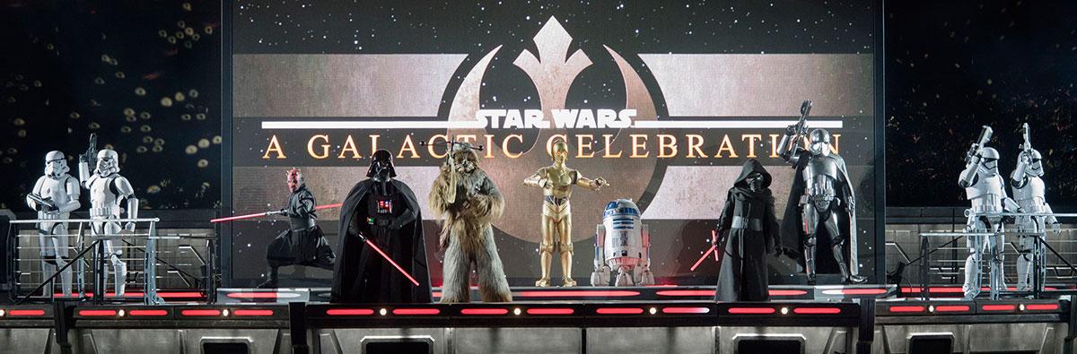 Personajes Star Wars en la Temporada de la Fuerza