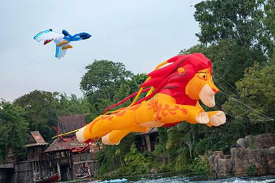 Disney kite tails Animal Kingdom Orlando